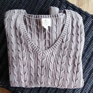 St. John's Bay Brown Cable Knit Sweater